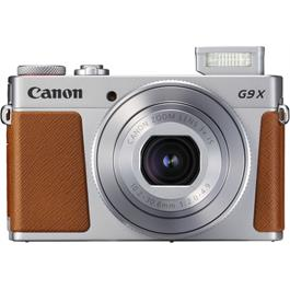 PowerShot G9 X II Silver Front with Flash