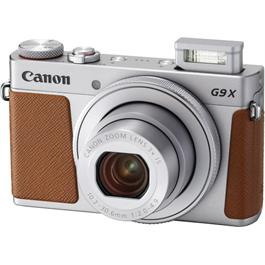 PowerShot G9 X II Silver Angle with Flash
