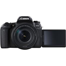 Canon EOS 77D 18-135 Kit Front with Screen Out