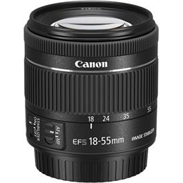 Canon EF-S 18-55mm f4-5.6 IS STM Side Angle with Cap