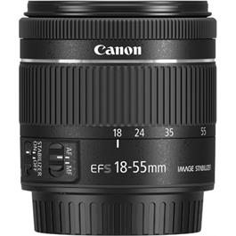 Canon EF-S 18-55mm f4-5.6 IS STM Side with Cap