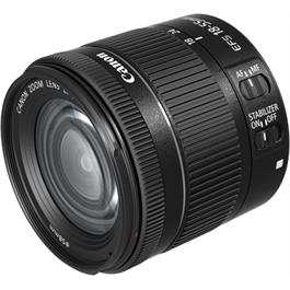 Canon EF-S 18-55mm f4-5.6 IS STM Front Angle