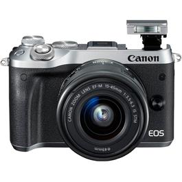 Canon EOS M6 Mirrorless Camera With EF-M 15-45mm IS STM Lens - Silver thumbnail