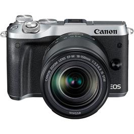 Canon EOS M6 Mirrorless Body With EF-M 18-150mm IS STM Lens - Silver thumbnail