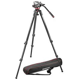 Manfrotto 502 Fluid Head and 535 Carbon Fibre Tripod Kit thumbnail