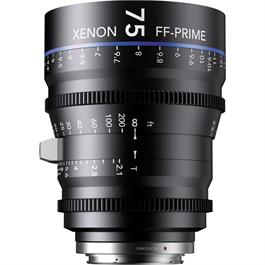 Xenon FF 75mm T2.1 Lens with Canon EF Mount (Feet)