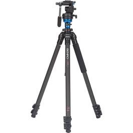 Benro C1573FS2 Series 1 Carbon Fibre 3 Section Single Leg Video Tripod with S2 Head Ki thumbnail