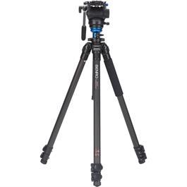 Benro C2573FS4 Series 2 Carbon Fibre 3 Section Single Leg Video Tripod with S4 Head Ki thumbnail