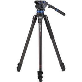 Benro Series 3 3-Section Carbon Fibre Single Leg Video Tripod Kit (S7 Head) thumbnail