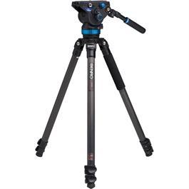Benro Series 3 3-Section Carbon Fibre Single Leg Video Tripod Kit (S8 Head) thumbnail