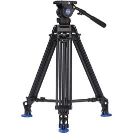 Benro Aluminium Twin Leg Video Tripod with BV8 Fluid Head Kit thumbnail