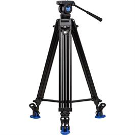 Benro Aluminium Twin Leg Video Long Tripod with K5 Fluid Head Kit thumbnail