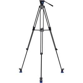 KH26NL Aluminium 3 Section Long Twin Leg Video Tripod with K5 Head Kit