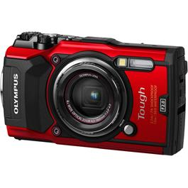 Olympus Tough TG-5 Red Action Camera 3 Side