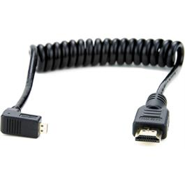 Atomos Coiled Right-Angle Micro HDMI To Full HDMI 30-45cm Cable thumbnail