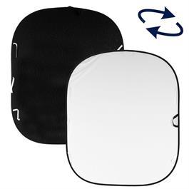 Lastolite Plain Collapsible Reversible Background 1.8 x 2.1m Black/White LL LB5921 thumbnail