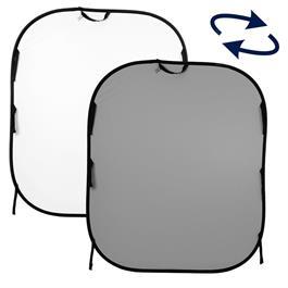 Lastolite Plain Collapsible Background 1.5 x 1.8m White/Mid Grey LL LB56GW thumbnail