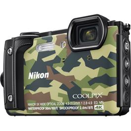 Nikon Coolpix W300 Waterproof Compact Camera in Camouflage Thumbnail Image 1