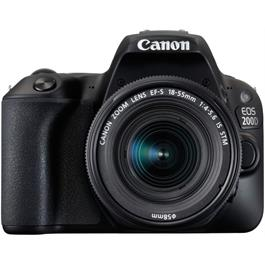 Canon EOS 200D DSLR Camera in Black + 18-55mm IS STM Lens Kit Thumbnail Image 1