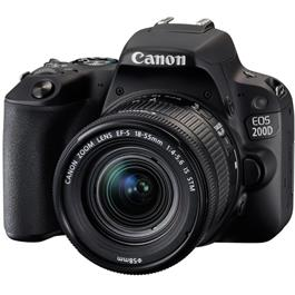 Canon EOS 200D DSLR Camera in Black + 18-55mm IS STM Lens Kit Thumbnail Image 2