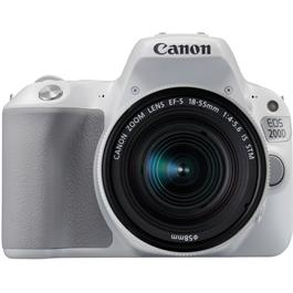 Canon EOS 200D DSLR Camera in White + 18-55mm IS STM Lens Kit Thumbnail Image 1