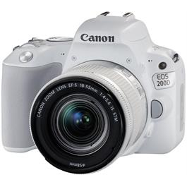 Canon EOS 200D DSLR Camera in White + 18-55mm IS STM Lens Kit Thumbnail Image 2