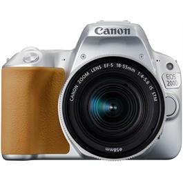 Canon EOS 200D DSLR Camera in Silver + 18-55mm IS STM Lens Kit Thumbnail Image 1