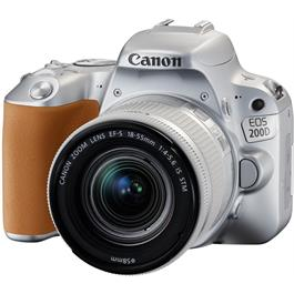Canon EOS 200D DSLR Camera in Silver + 18-55mm IS STM Lens Kit Thumbnail Image 2