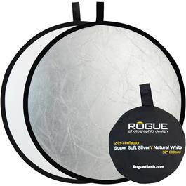 "Rogue Flash 32"" 2-in-1 Super Soft Silver & Natural White Collapsible Reflector thumbnail"