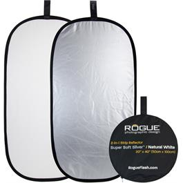 "Rogue Flash 20x40"" 2-in-1 Super Soft Silver & Natural White Collapsible Reflector thumbnail"