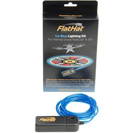 "FlatHat Lighting Kit for 16"" & 32"" Drone Pad - Ice Blue thumbnail"
