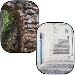 Lastolite Perspective BG Stone Archway & Grecian Steps 2.15 x 1.54m Studio Background thumbnail
