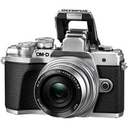 Olympus OM-D E-M10 Mark III & 14-42mm EZ & 40-150mm Twin Lens Kit - Silver Thumbnail Image 2