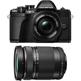 Olympus OM-D E-M10 Mark III & 14-42mm EZ & 40-150mm Twin Lens Kit - Black thumbnail