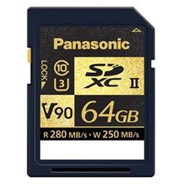 Panasonic 64GB 280Mb/s V90 SDXC U3 C10 memory card thumbnail