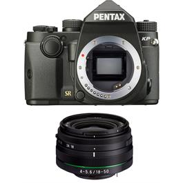 Pentax KP DSLR With HD DA 18-50mm f4-5.6 DC WR RE Lens Kit - Black thumbnail