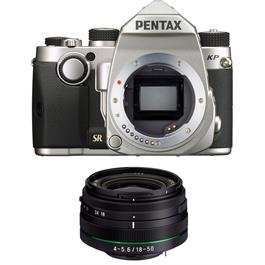 Pentax KP DSLR With HD DA 18-50mm f4-5.6 DC WR RE Lens Kit - Silver thumbnail