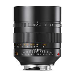 Leica NOCTILUX-M 75mm f/1.25 ASPH Black Anodised thumbnail