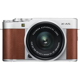 Fujifilm X-A5 Mirrorless Camera With XC 15-45mm Lens - Brown/Silver Thumbnail Image 1