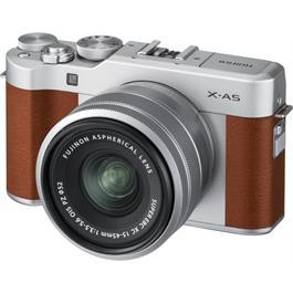 Fujifilm X-A5 Mirrorless Camera With XC 15-45mm Lens - Brown/Silver Thumbnail Image 3