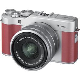 Fujifilm X-A5 Mirrorless Camera With XC 15-45mm Lens - Pink/Silver Thumbnail Image 1