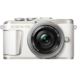 Olympus PEN E-PL9 With 14-42mm EZ Pancake Lens Kit - White thumbnail