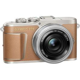 Olympus PEN E-PL9 With 14-42mm EZ Pancake Lens Kit - Brown Thumbnail Image 1