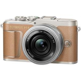 Olympus PEN E-PL9 With 14-42mm EZ Pancake Lens Kit - Brown Thumbnail Image 2