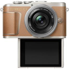 Olympus PEN E-PL9 With 14-42mm EZ Pancake Lens Kit - Brown Thumbnail Image 3