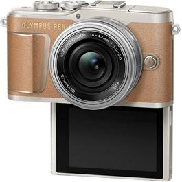 Olympus PEN E-PL9 With 14-42mm EZ Pancake Lens Kit - Brown Thumbnail Image 5