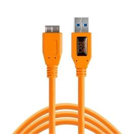 Tether Tools TetherPro USB 3 male-Micro-B, 15', Orange thumbnail