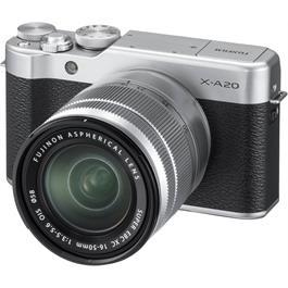 Fujifilm X-A20 Silver Mirrorless Camera + XC 15-45mm f/3.5-5.6 OIS PZ Lens Kit Thumbnail Image 1
