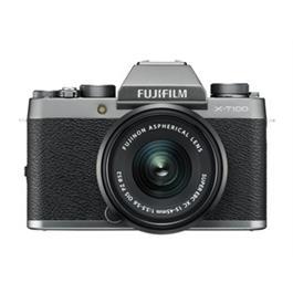 Fujifilm X-T100 mirrorless digital camera + 15-45mm  XC lens Dark Silver Thumbnail Image 0