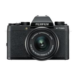 Fujifilm X-T100 mirrorless digital camera + 15-45mm XC lens Black Thumbnail Image 1